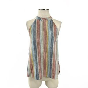 Anthropologie-W5 Vertical Multi Stripe Top Small